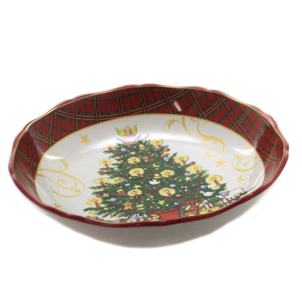 Tabletop VINTAGE SANTA SERVING BOWL Ceramic Christmas Pasta Tree 41875Rm