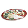 Tabletop BELIEVE OVAL PLATTER Ceramic Merry Christmas Snowman 41807Rm