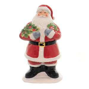 Tabletop VINTAGE SANTA COOKIE JAR Ceramic Christmas Presents 41882Rm