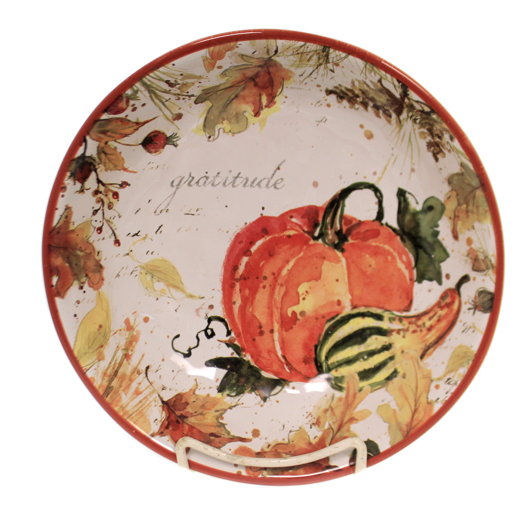 Tabletop HARVEST SPLASH SOUP PASTA BOWL Thanksgiving Fall Pumpkins 41863Rm