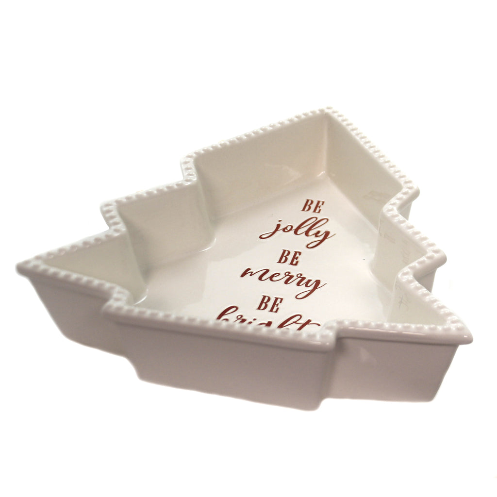 Tabletop TREE SHAPE BAKEWARE BE JOLLY Stoneware Merry & Bright 9736941L
