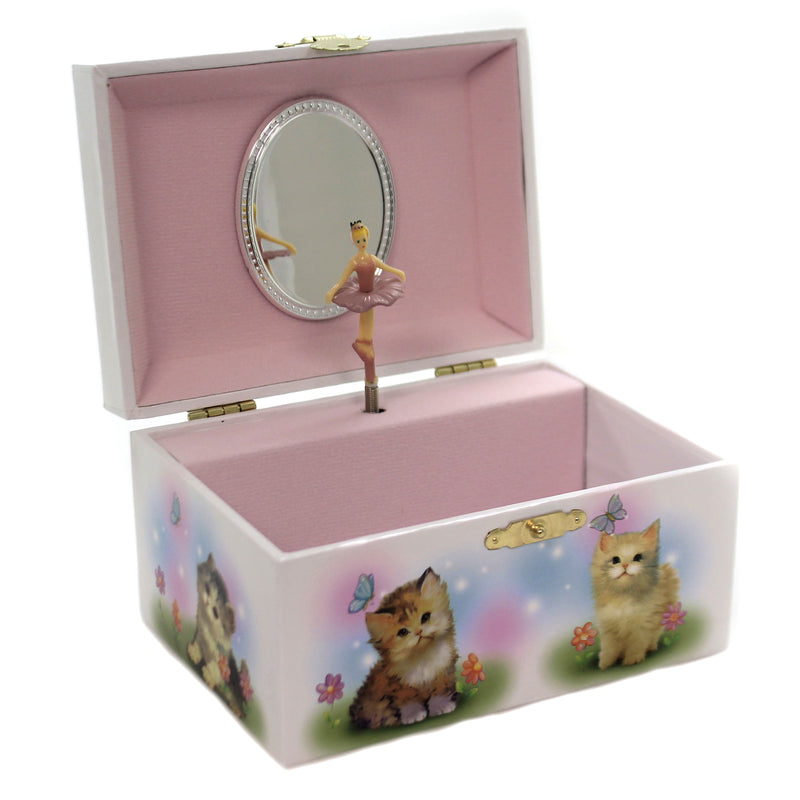 Child Related KITTENS JEWELRY BOX Paper Musical Butterflies 28062.