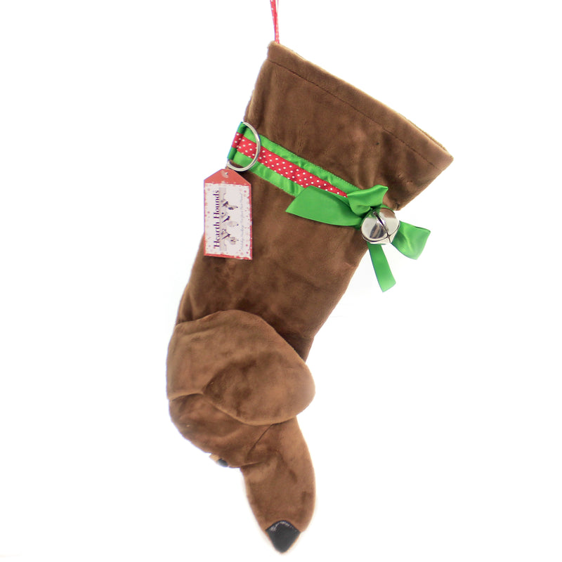Christmas DACHSHUND TAN STOCKING Fabric Pet Best Friend Hotdog Hh15