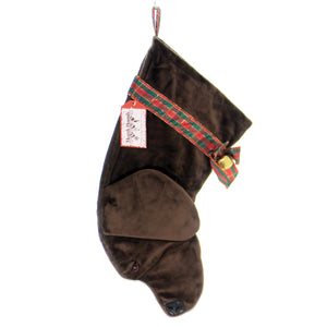 Christmas CHOCOLATE LABRADOR STOCKING Fabric Dog Puppy Best Friend Hh02