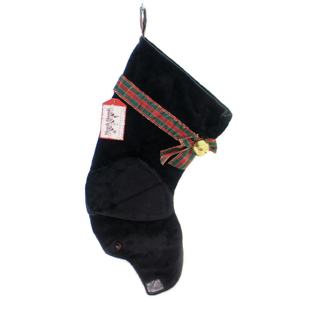 Christmas BLACK LABRADOR STOCKING Fabric Dog Puppy Best Friend Hh00