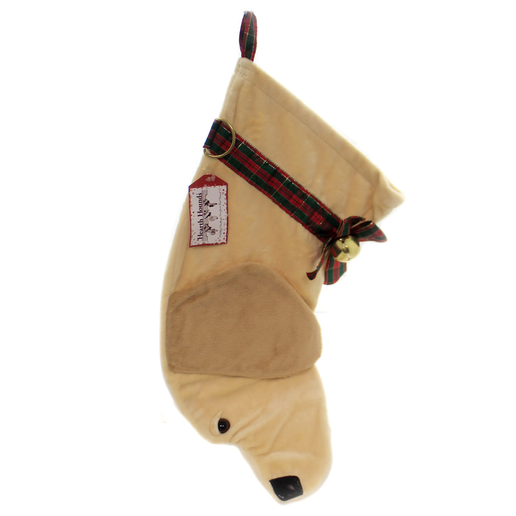 Christmas YELLOW LABRADOR STOCKING Fabric Dog Puppy Best Friend Hh01