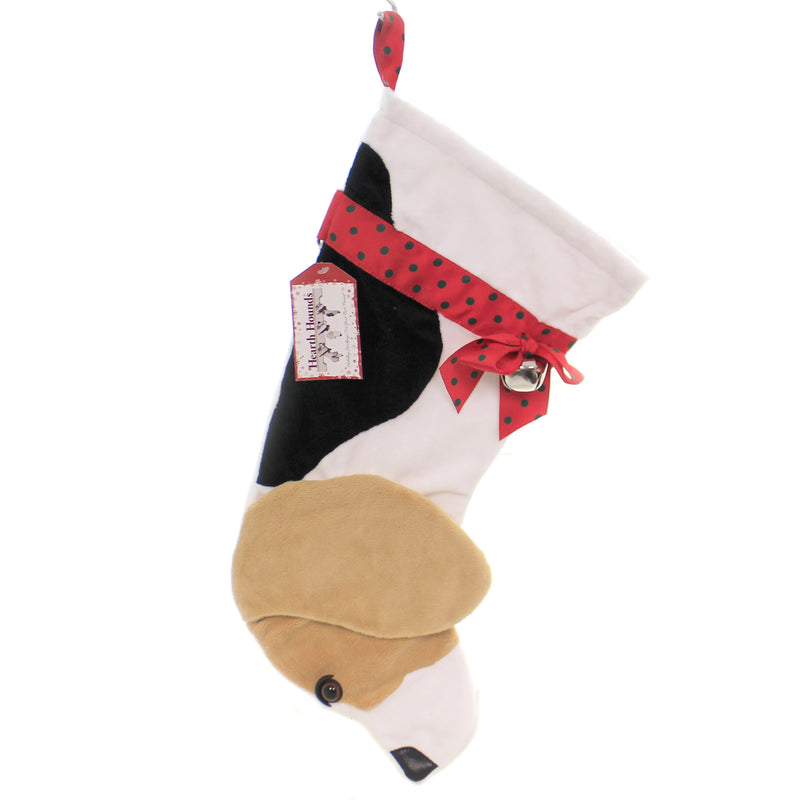 Christmas BEAGLE STOCKING Fabric Dog Puppy Best Friend Hh07