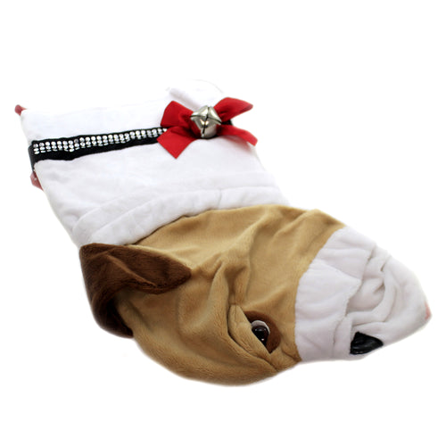 Christmas ENGLISH BULLDOG STOCKING Fabric Dog Puppy Best Friend Hh20