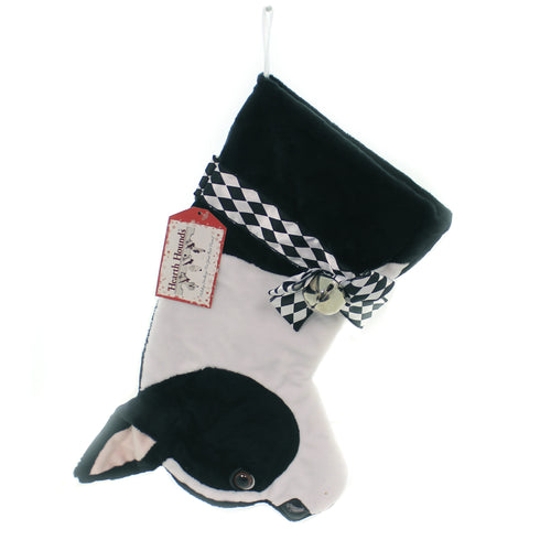 Christmas BOSTON TERRIER STOCKING Fabric Dog Puppy Best Friend Hh52