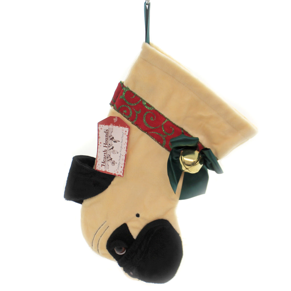 Christmas PUG STOCKING Fabric Dog Puppy Best Friend Hh50