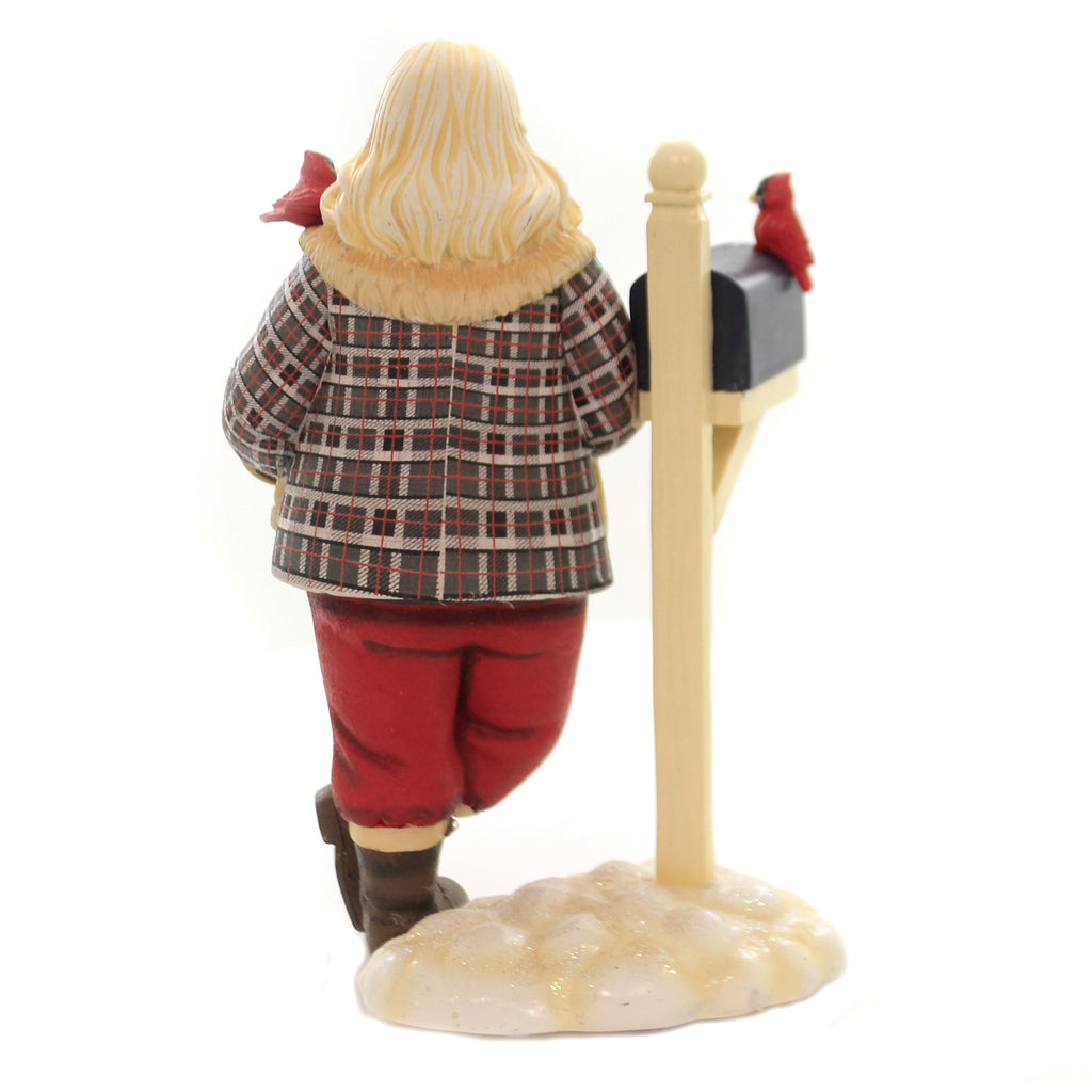Christmas LETTERS TO SANTA Polyresin Cardinal Mailbox 6003887