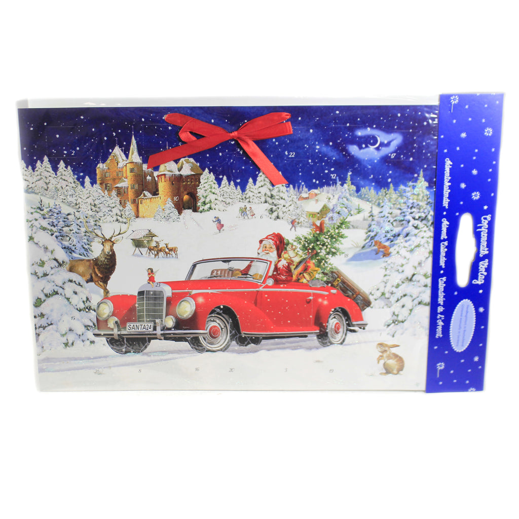 Christmas SANTA'S ROAD TRIP ADVENT Paper Calendar Germany 71520