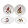 Tabletop CHRISTMAS BIRD PLATE Plastic Winter Owl Cardinal Me0415