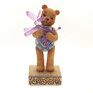 Jim Shore BEAR HUGS Polyresin Button & Squeaky 6005128