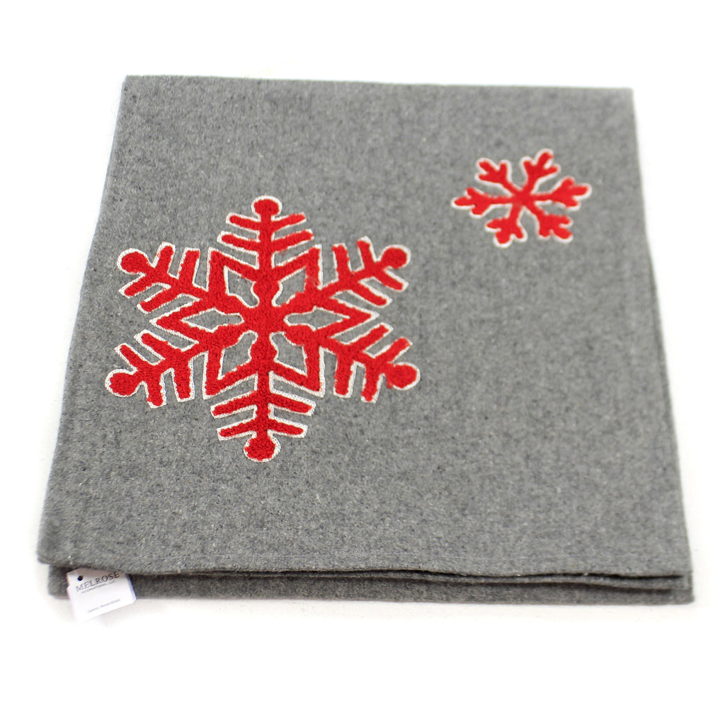Tabletop SNOWFLAKE TABLE RUNNER. Fabric Christmas Wool 77630