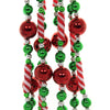 Christmas CANDY BEAD GARLAND W/RED BALL Plastic Tree Decor H2043