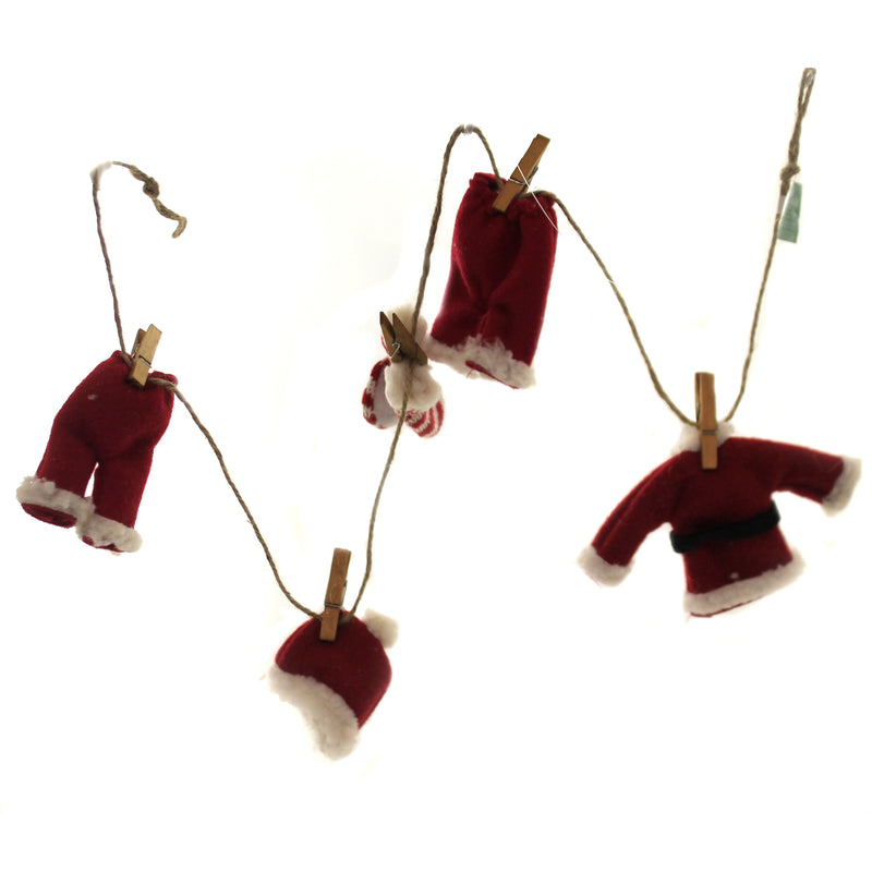 Holiday Ornaments SANTA SUIT NOVELTY GARLAND Fabric Laundry Clothes Pin G0154