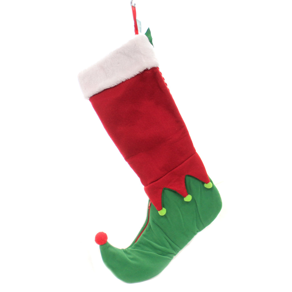 Christmas ELF STOCKING Polyester Zipper Foot J8990