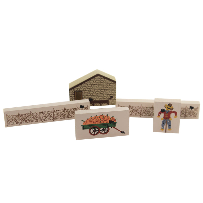 Cats Meow Village COUNTRY FALL SET / 5 Accessories Farm Pumpkin Fence Country Set/5
