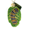 Old World Christmas FUZZY CATERPILLAR Glass Chrysalis Butterfly 12322