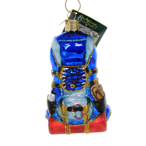 Old World Christmas HIKING BACKPACK Glass Explore Nature Scenic 44143