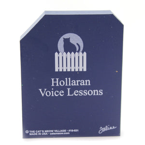 Cats Meow Village HOLLARAN VOICE LESSONS Wood Halloween 19631