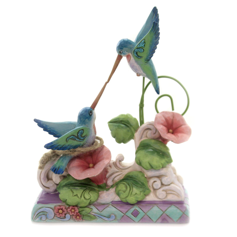 Jim Shore FRIENDSHIP IS LIFE'S NECTAR Polyresin Hummingbirds 6003999