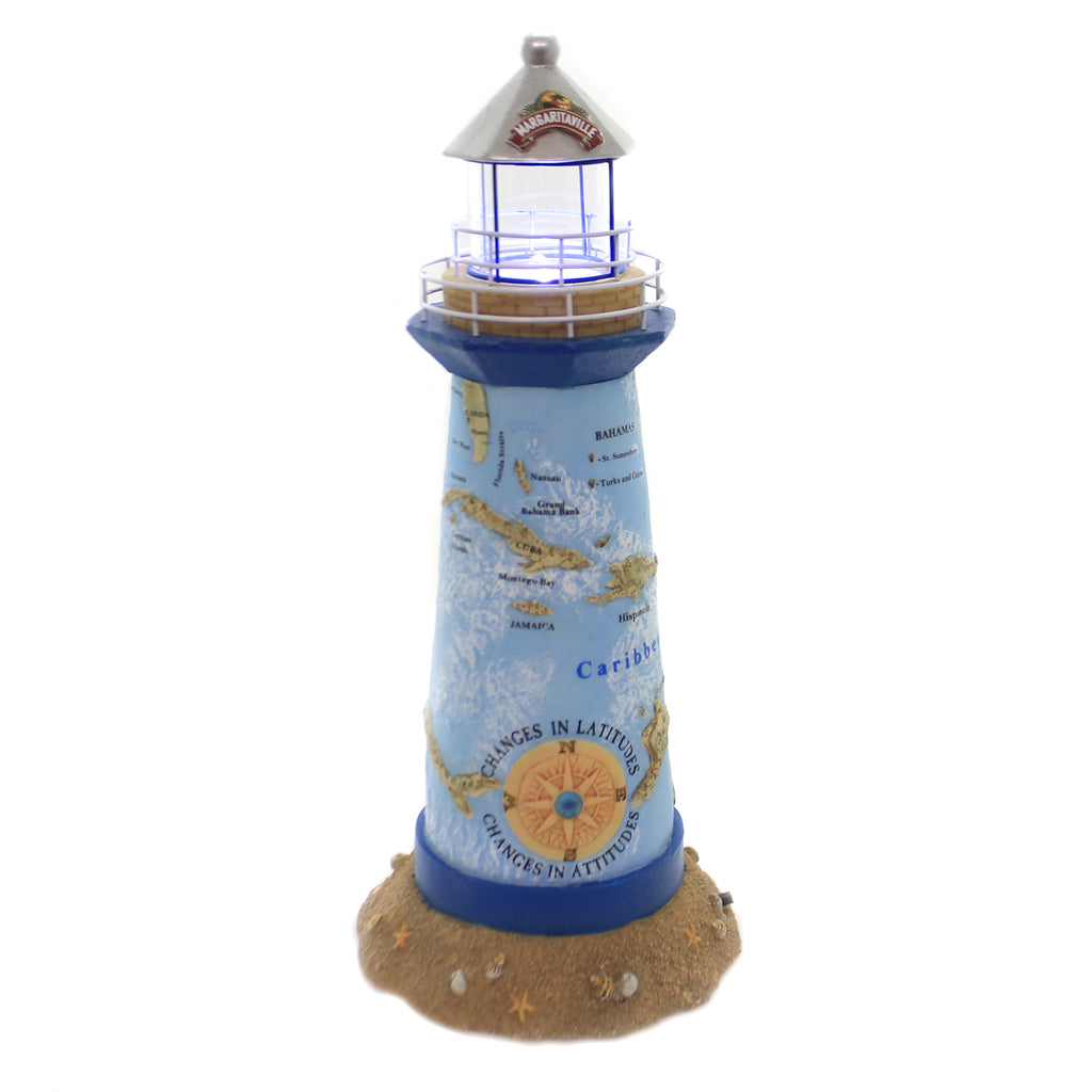Department 56 House MARGARITAVILLE LIGHTHOUSE Polyresin Lights Up Timer 6005103