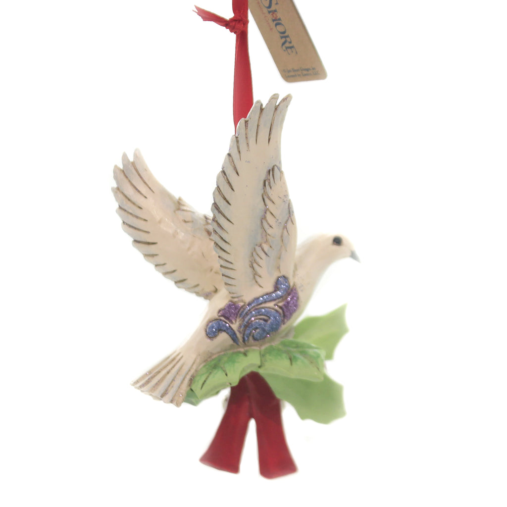 Jim Shore LEGEND OF CHRISTMAS TURTLE DOVE Polyresin 7Th In Series 6005912