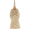 Jim Shore WHITE WOODLAND NATIVITY ANGEL Polyresin Ornament Wings 6005314