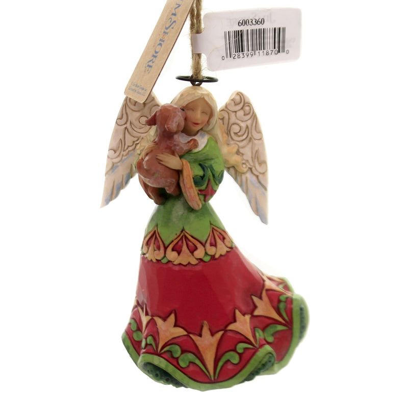 Jim Shore ANGEL HOLDING DOG Polyresin Ornament 6003360