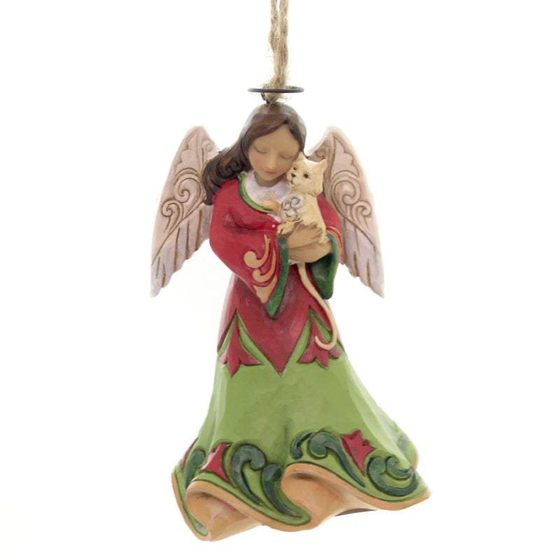 Jim Shore ANGEL HOLDING CAT Polyersin Ornament 6003359