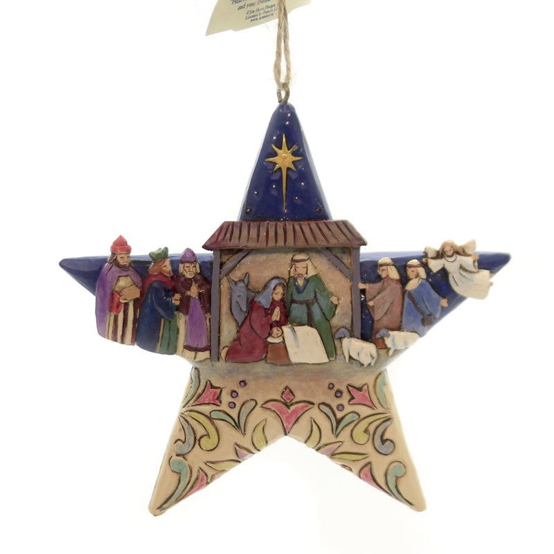 Jim Shore NATIVITY STAR ORNAMENT Polyresin Wisemen Joseph Mary Jesus 6003340