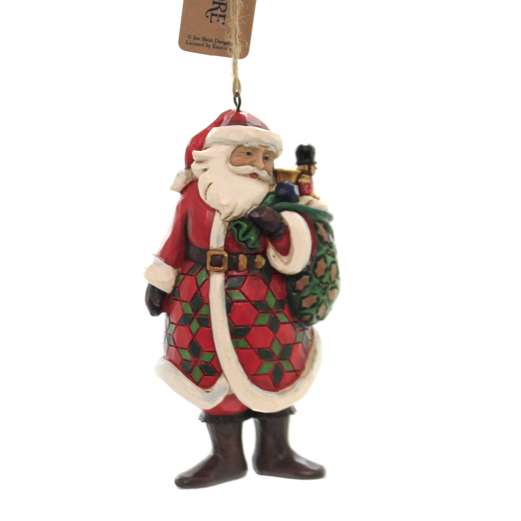 Jim Shore SANTA WITH TOY BAG. Polyresin Ornament 6005311