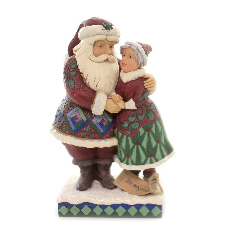 Jim Shore CUTEST CHRISTMAS COUPLE Polyresin Santa & Mrs. Claus 6001465