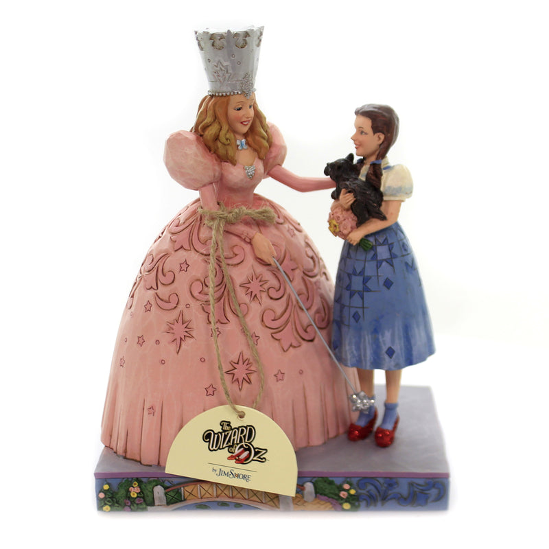 Jim Shore THE GIFT OF RUBY SLIPPERS Polyresin Glinda & Dorothy 6005080