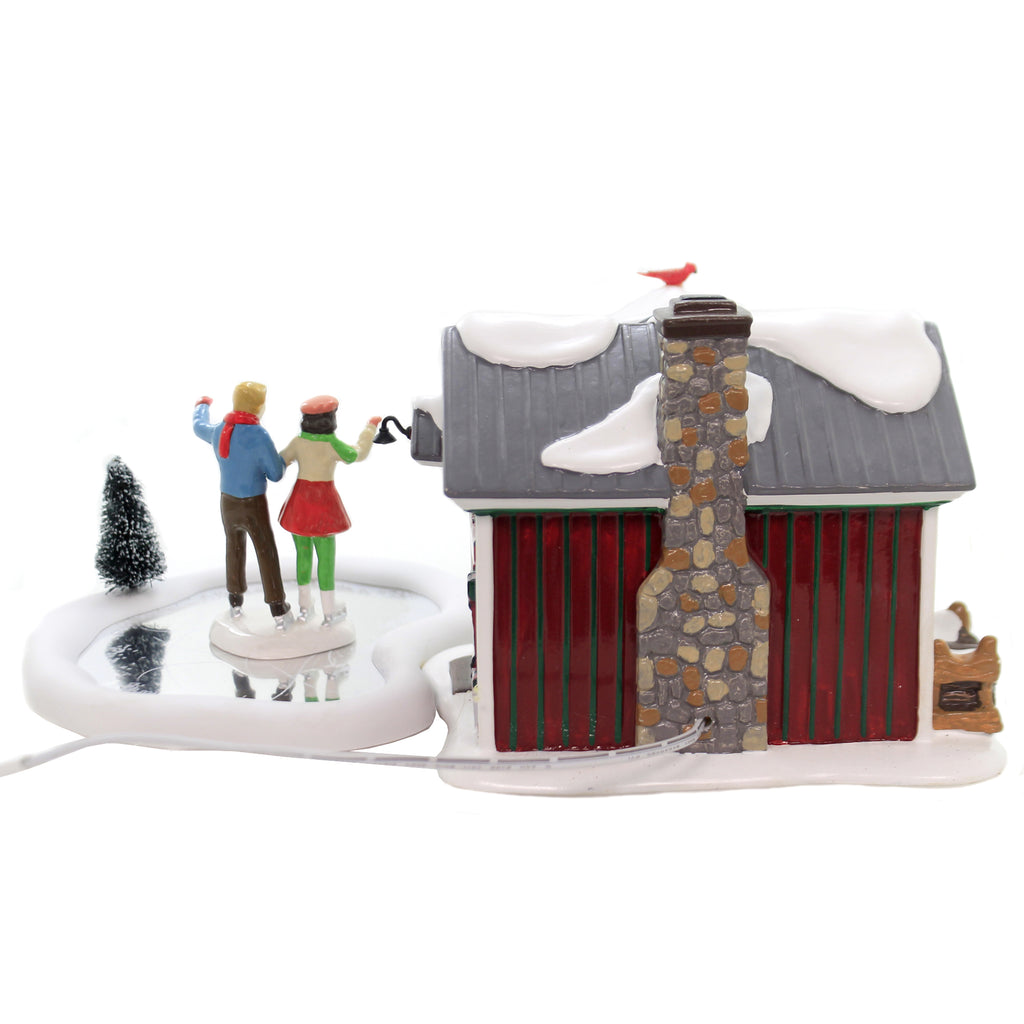 Department 56 House HOLIDAY SKATING PARTY SV Snow Village Gift Set 6004814