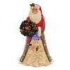 Jim Shore SHARE THE CHEER Polyresin Santa With Wreath 6005247