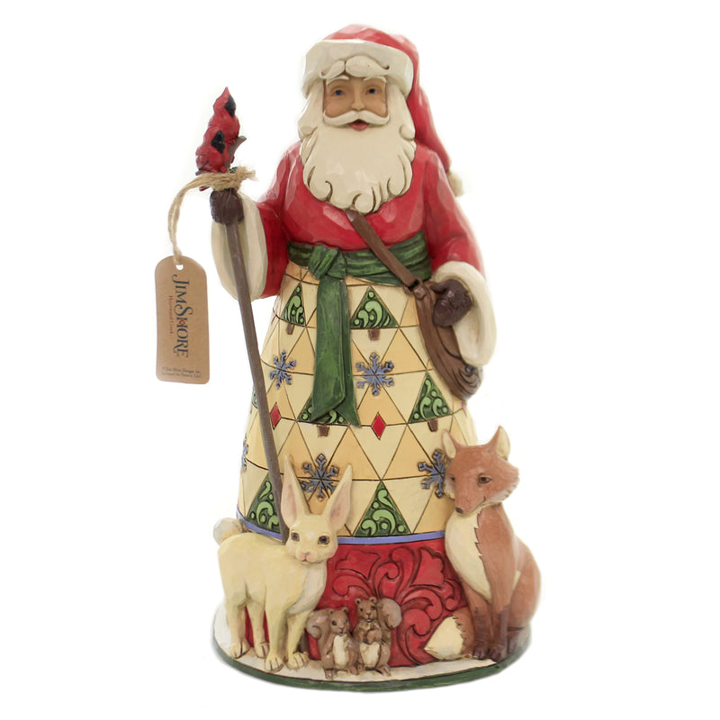 Jim Shore CHRISTMAS FOR ALL Polyresin Santa Animals 6005246