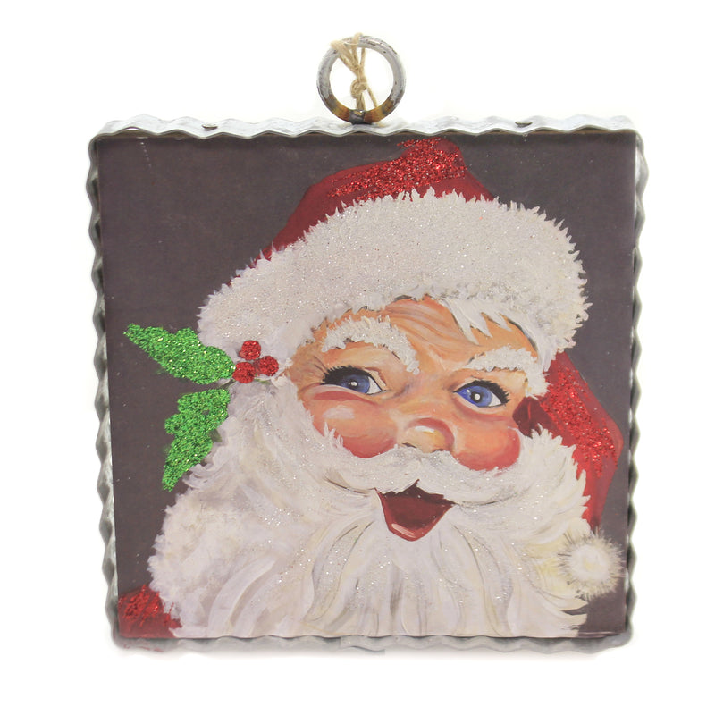 Christmas GALLARY JOLLY SANTA SMALL Wood Vintage Look C19109