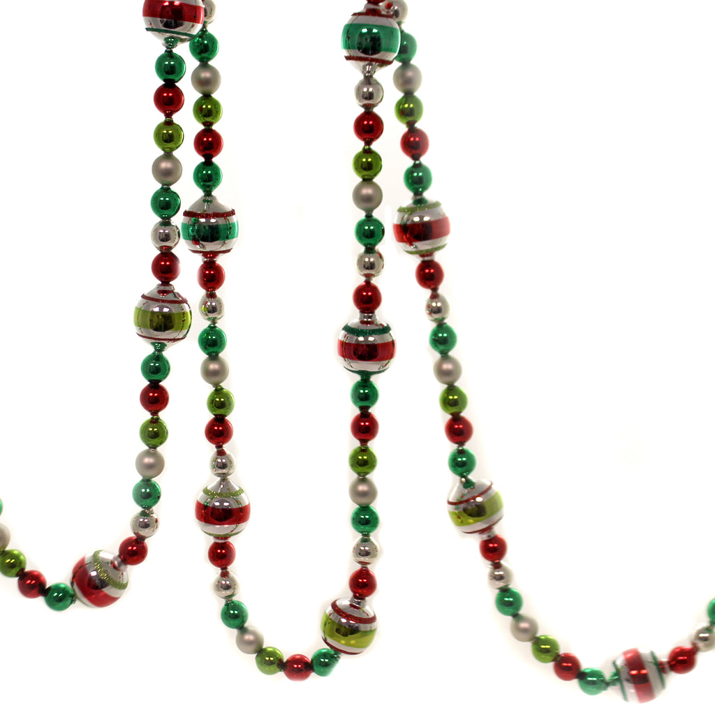 Shiny Brite HOLIDAY SPLENDOR GARLAND Glass Vibrant Vintage Look 4027724.