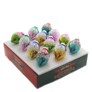 Shiny Brite CC FLOCKED TULIPS Glass Christmas Confetti 4027743.