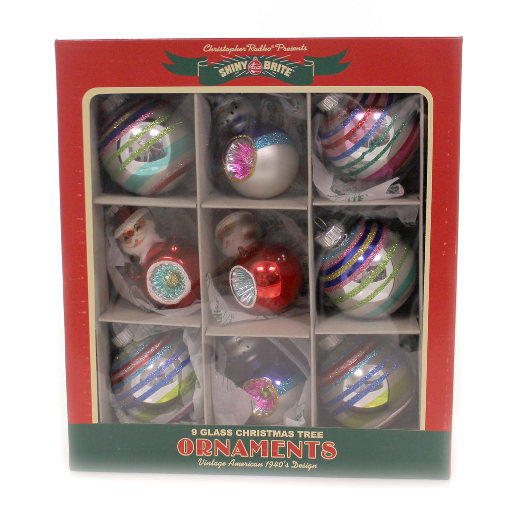 Shiny Brite CC ROUNDS & FIGURES Glass Chirstmas Confetti 4027750.