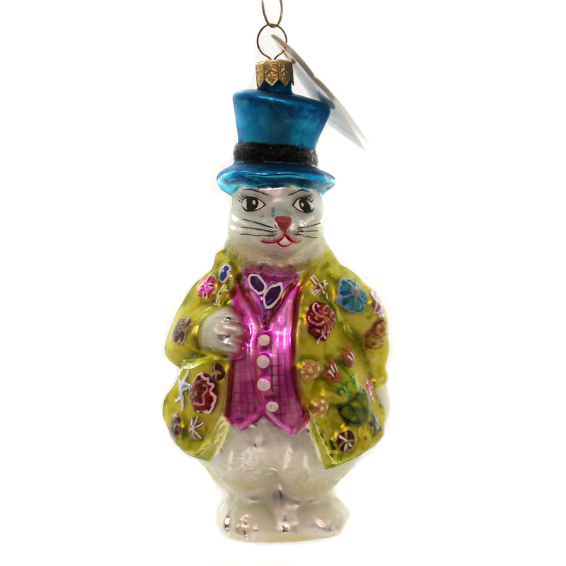 Christopher Radko HOPPER  B TOPPER... Ornament Easter Rabbit Bunny 971430...