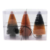 Halloween OMBRE HALLOWEEN TREES Plastic Bottle Brush Black Orange Lc8046