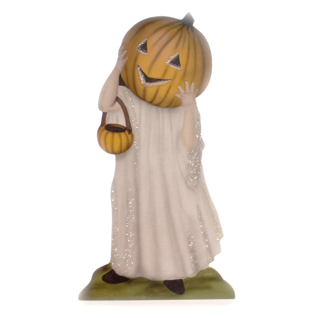 Halloween PUMPKIN TREATS DUMMY BOARD LG Wood Trick Or Treat Night Bb8828