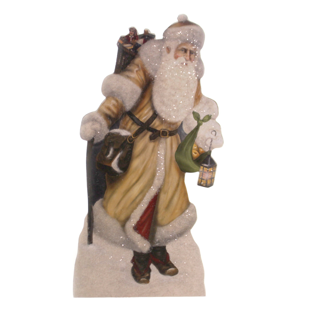 Christmas LIGHTING THE WAY DUMMY BOARD Wood Woodland Santa Lantern Bb8836
