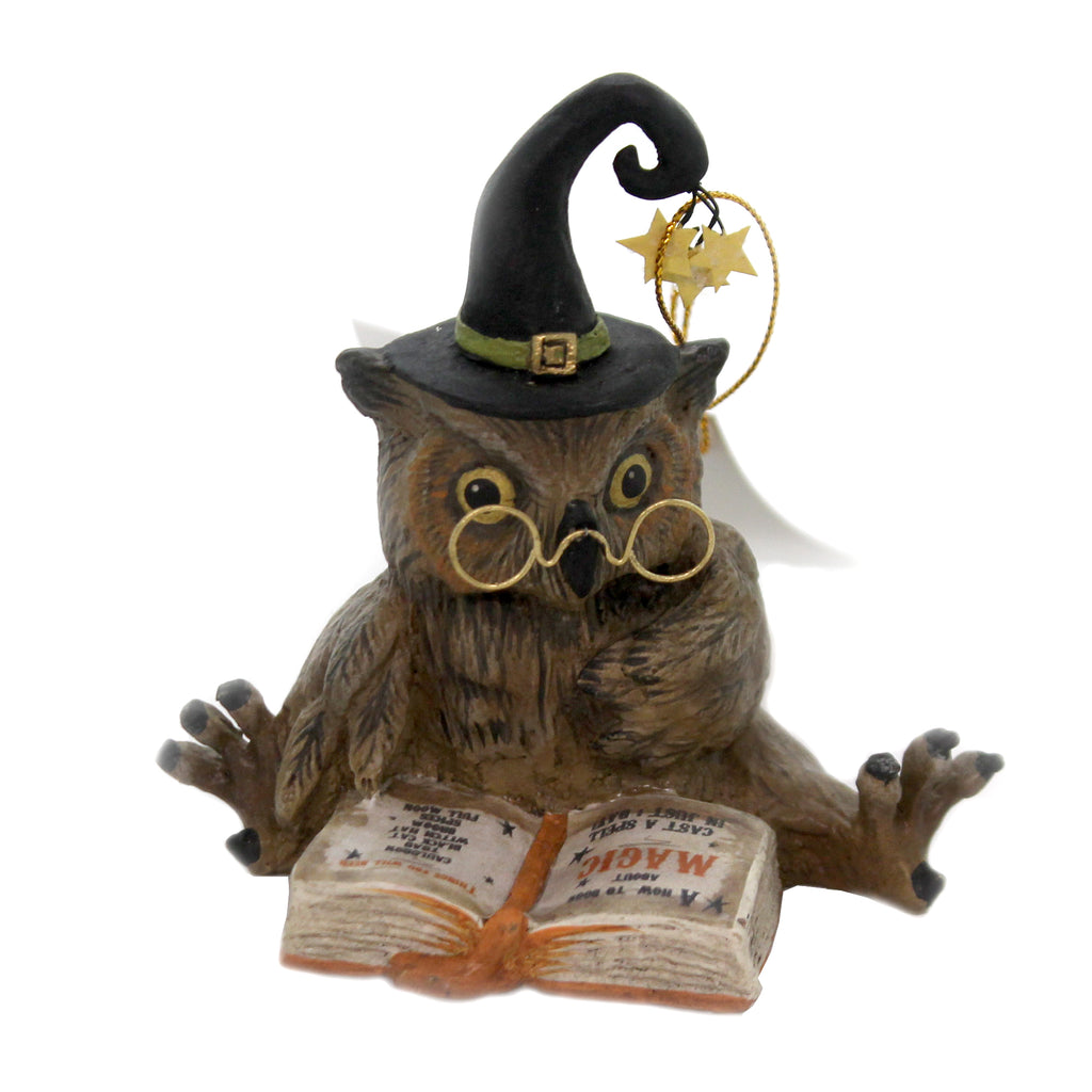 Halloween OWL WIZARD Polyresin Wise Magic Potions Td8503