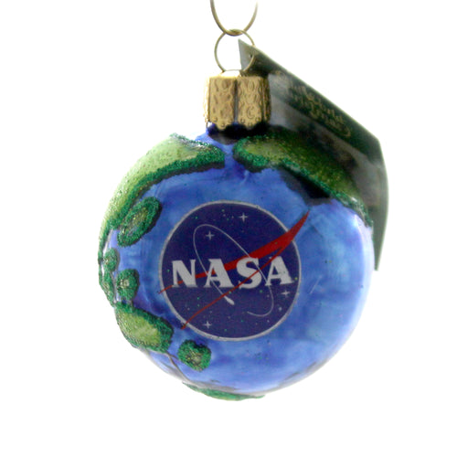 Old World Christmas NASA EARTH Glass Aeronautics Space 22039.