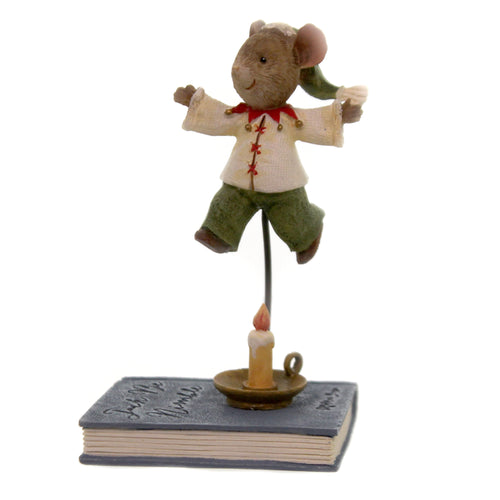 Figurine JACK BE NIMBLE MOUSE Polyresin Tails With Heart 6005744